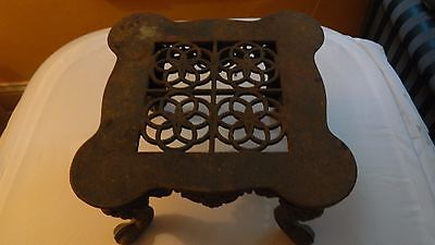 Early Cast iron Fireplace Pot/Pan Rest Stand