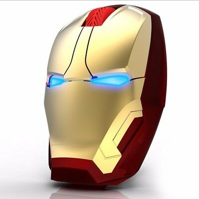 Brand New Iron Man Gaming Mouse Wireless Computer Accessories Led Arc Reactor