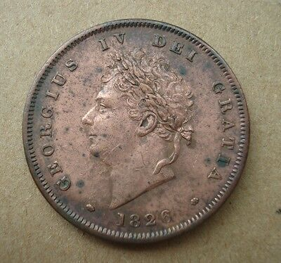 George IV Penny 1826. High Grade.