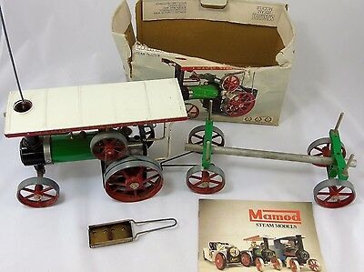 Boxed Mamod Steam Tractor TE1A with Logging Trailer