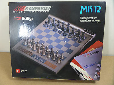 Boxed Scisys Kasparov Mk12 Trainer Chess Computer