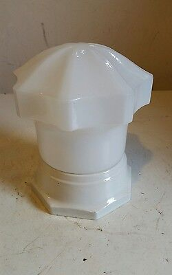 vintage  Art Deco Milk Glass ? Light Shade With White Porcelain Fixture