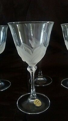 Cristal D'arque Durand wine glasses x 4 French