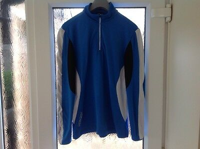 "STUNNIG-Medium 40-42"" Chest-Blue-Black-Galvin Green Insula Technology Golf Top,"