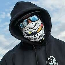 MOTORCYCLE FACE MASK - THE GANGSTER - (Moto, Hunting, Fishing, Paintball)