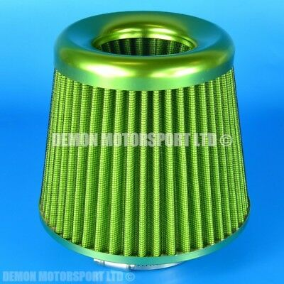 """Universal Air Filter Green Ideal For 3"""" inch Induction Kit Turbo Intake (39086)"""