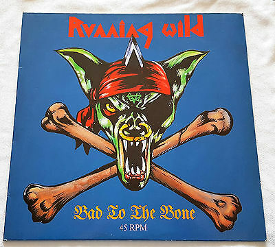 Running Wild ‎– Bad To The Bone - EP - 1989 Ultra Rare First Press Noise EMI