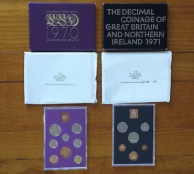 1970 & 1971 Great Britian & Northern Ireland Proof Sets, Absolutely Gem Coins