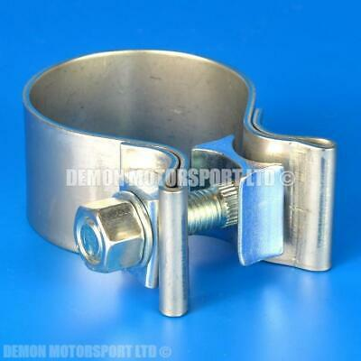 "2"" inch Exhaust T Bolt Clamp (53mm to 47mm) HEAVY DUTY"
