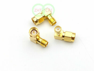 1000pcs lot  gold SMA male to SMA female right angle in series RF connector