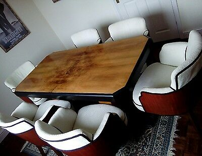 Art Deco dining table &  6 chairs