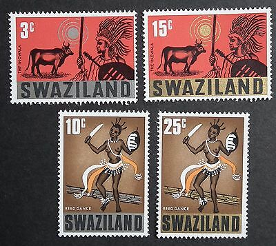 Swaziland (1968) Folklore / Costumes / Reed Dance / Cattle - Mint (MNH)