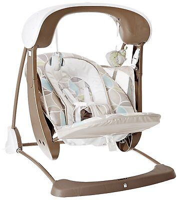 NEW Fisher-Price Deluxe Take-Along Swing and Seat in Mocha Swirl