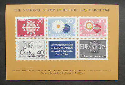 EXHIBITION SHEET : 1961 National Stamp Exhibition MNH