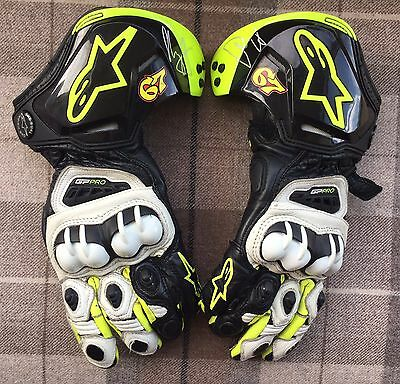 "Genuine Shane ""shakey"" Bryne Alpinestars Race Gloves. Race Used. Rare"