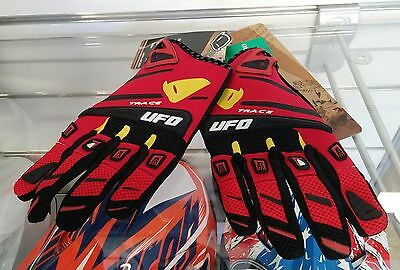 Guanti Enduro Cross Ufo Trace Rossi OUTLET