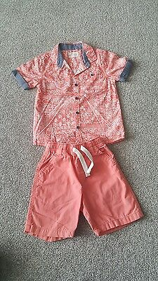 Boy's Next Shirt and Short Outfit. Size 2-3 Years