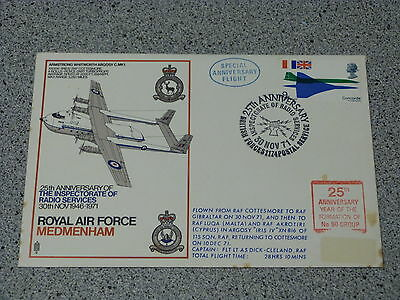 Royal Air Force Medmenham FDC  25TH ANNIVERSARY of FORMATION OF No. 90 GROUP