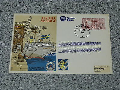 Royal Air Force Escaping Society FDC RAFES SC9 FLY TILL SVERIGE-ESCAPE TO SWEDEN