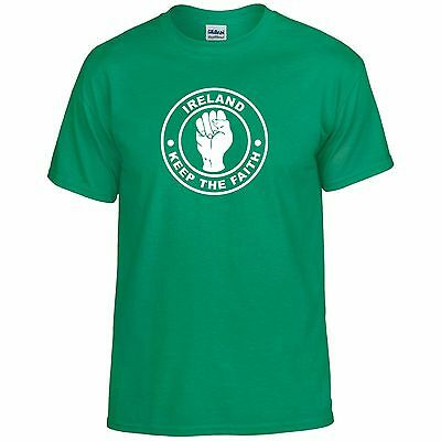 Republic Of Ireland Eire Fans Themed Keep The Faith Northern Soul T-Shirt