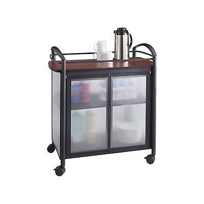 Safco Products 8966BL Impromptu Refreshment Hospitality Cart Cherry Top/Black...