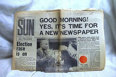 1st Edition of The Sun newspaper, Sept 15th 1964