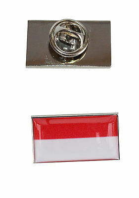 Indonisia Flag Tie Pin with free organza pouch