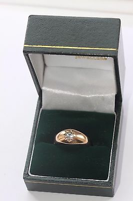 Rare Antique 9ct Rose Gold & Spinel Ring. C1910 Size N. 4.9 Grams