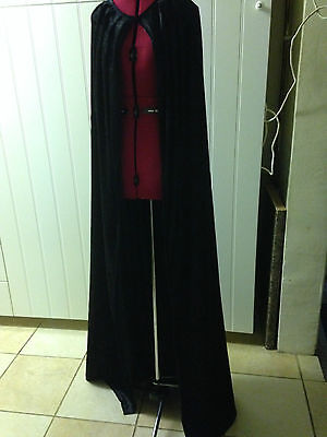 long crushed velvet cloak cape