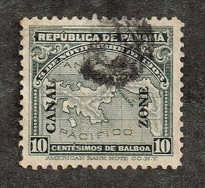 Canal Zone - 1914 - 10 Cents Gray Panama Map Issue