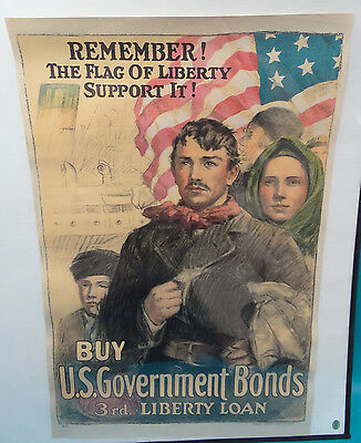 1918 WWI Heywood Strasser Voight  3rd Liberty Loan Original Lithograph Poster