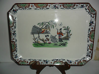 Vecchio Vassoio Cinese In Porcella Decorata Tray Old Chinese Porcelain Decorated