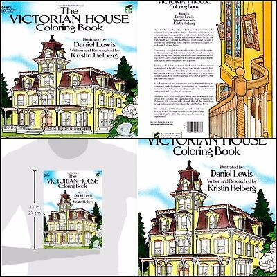 New Creative Victorian House Coloring Book for Grownups Paperback Relaxing Adult