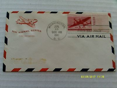 FDC House of Farnam Airmail #C25 w/border, single plate stamp