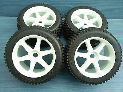 NITRO 1/8 RC TRUGGY HYPER ST RACING SET OF 4 OFFROAD WHEELS 17mm HEX FIT NEW