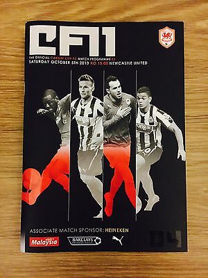 Cardiff City Signed Match Day Programme, Cardiff City vs Newcastle United