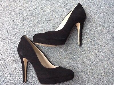 Michael Kors women's black leather/suede high heel shoes size 6