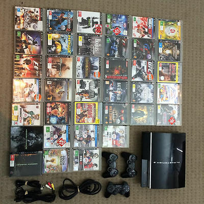 PS3 500 gig, 36 games, 3 controllers (Playstation 3)