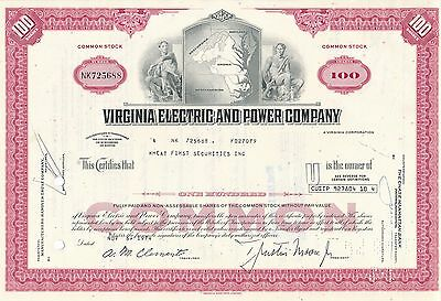 USA Amerika Virginia Electric Power VEPCO 1975 heute Dominion Resources