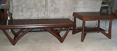 Vintage Mid Century Modern Adrian Pearsall Style Coffee Table & End/side Table