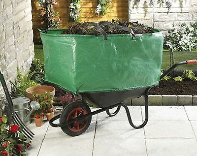 Wheelbarrow Booster Bag Heavy Duty Garden Tools Triple Capacity Stables Yard Use
