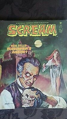 Scream No 6 Skywald Rare Vintage Monster Magazine. June 74