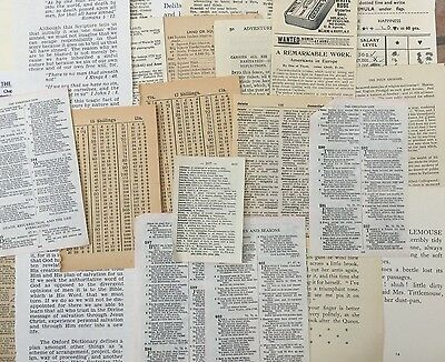Vintage Ephemera Pack 30 pieces. Small Pages. Crafts,scrapbook,decoupage,collage