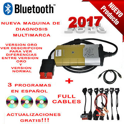 Maquina Diagnosis Bluetooth Multimarca 2017 Oro + 3 Soft Coche Camion Ful Cables