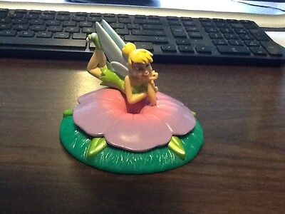 Disney Tinker Bell Cake Topper PVC Figure with Flower