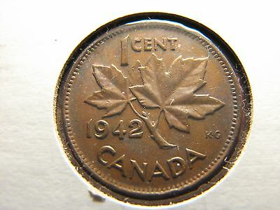 1942 1 Cent Canada Coin