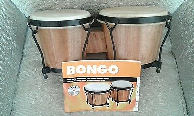 Bongo Drum Set with Tuition CD