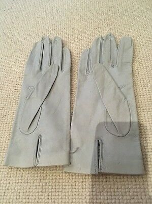 Ladies Pale Blue Leather Gloves