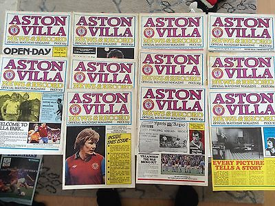 aston villa home program bundle 1979/80 x 11