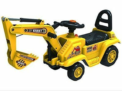 Childrens Large Excavator Digger Jcb Ride On Garden Toy Push N Pull Truck Yd1007